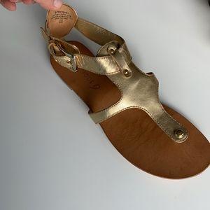 Boutique 9 gold sandals, size 9 M